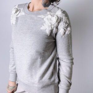 J. CREW Floral Embellished Sweatshirt